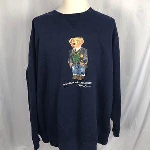 Ralph Lauren Polo bear sweatshirt navy 3XLT